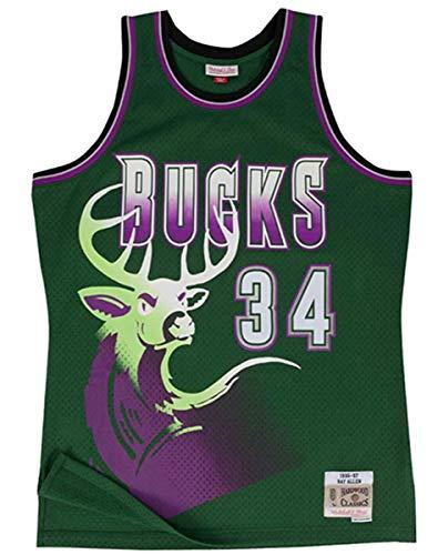 Pallacanestro da Uomo NBA Maglie, Ray Allen 20# Milwaukee Bucks Jersey Classico, Comodo/Leggero/Traspirante Fan del Fan Unisex,2,S(165~170CM/50~65KG)