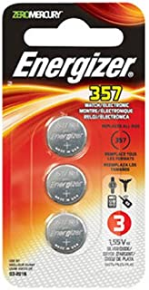 Energizer 357 Battery, (Pack of 3)