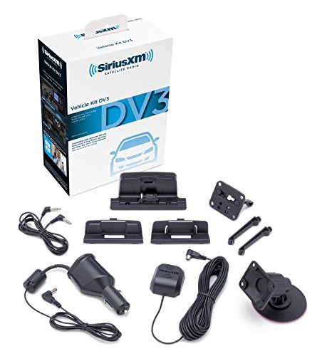 SiriusXM SXDV3 Satellite Radio Vehicle Mounting Kit with Dock and Charging Cable (Black)