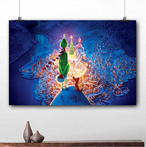 taoyuemaoyi Movie Poster The Grinch Cartoon Bild Leinwanddruck Malerei Wandkunst Für Wohnzimmer Dekor 40 * 60 cm
