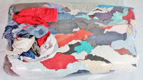 Paños de limpieza de algodón 25 kg para taller saco trapo