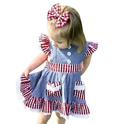 FRAUIT meisjes plaid jurk tassen jurk + hoofdband uitrusting korte mouwen ruche gothic jurk kant prinses jurk zomer jurk voor kleine kinderen