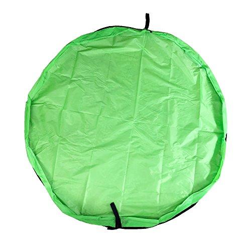 BITEYI Bolsa de Juguete Estera del Juego Juguetes Almacenamiento Bolsa Portátil los Niños Organizan Picnic Plegable 60 Pulgadas (Verde)