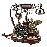 VBESTLIFE Teléfono retro , teléfono antiguo europeo Sistema dual FSK / DTMF, teléfono clásico retro vintage con identificador de llamadas para sala de estar, dormitorio, hotel, escuela, etc.