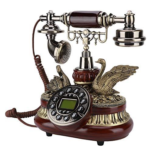 VBESTLIFE Retro Telefon, Europäische Antikes Telefon FSK/DTMF Duales System, Klassisches Retro Vintage Telefon mit Caller ID für Wohnzimmer, Schlafzimmer, Hotel, Schule etc