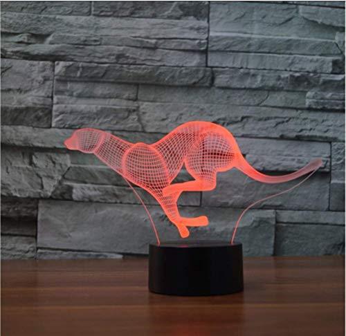 3D LED tijger luipaard tafel bureaulamp kinderen bedlampje verlichting geschenken slaapkamer decor