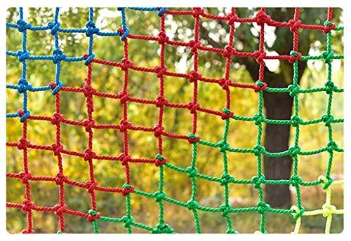 Anquanwang Farbnetz, Kletterseilnetz Outdoor Training Entwicklung Schutznetz Kindergarten Schutznetz Spielplatz Kinder Kletternetz (Size : 2 * 2m)