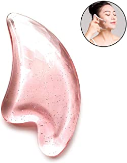 Gua Sha Scraping Massage Tool Hamkaw 3D Smooth Edge Guasha Facial Tool Guasha Board for Spa On Face and Body, Great Tools for SPA Acupuncture Therapy Trigger Point Treatment On Face (Heart Shape)