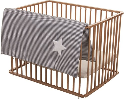 Fillikid – Tapis Parc enfant Softy Gray White Star