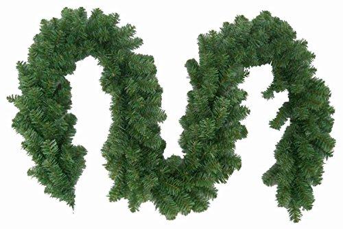 colourliving 2 Stück Weihnachtsgirlande Tannengirlande 270cm Weihnachtsdekoration weihnachtliche Fensterdekoration Türdekoration Weihnachtsschmuck Tannengrün