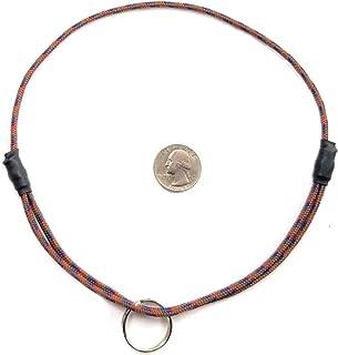 "National Leash Mountain Rope Dog ID Collar- Mt. Bachelor Brown- Medium (14""-20"") Ultra Lite"