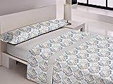 Libela MORAIRA Juego de sábanas, Polialgodón, Gris, Cama 150 cm