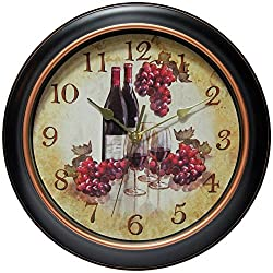 "Infinity Instruments Pinot 11-3/4"" inch Silent Sweep Wall Clock"