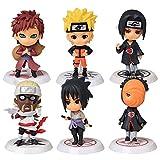 Naruto Cupcake Toppers, BKJJ 6PCS Decoración De Pastel De Naruto Cake Topper Naruto Figuras Set Naru...