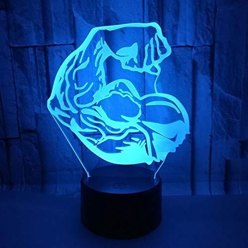 OGUAN Lámpara de Mesa de Lectura, Noche 3D llevó la luz del músculo Mostrar Modelando Luces nocturnas Color 7 Que Cambia ligyht de Escritorio Lámpara Regalos Gimnasio Decoración