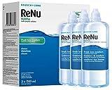 Bausch & Lomb ReNu MultiPlus - Solución multiusos, 3 x 240 ml y estuche para lentes