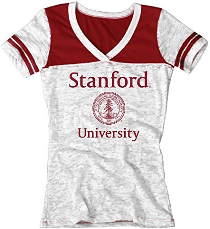 Bag2School Stanford University Cardinal NCAA Women VNeck Tee Shirt