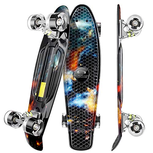 WeSkate Mini Cruiser Skateboard Retro Full Board 22