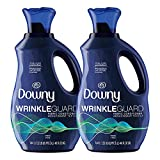Downy Wrinkleguard Liquid Laundry Fabric Softener, Fresh Scent, 192 Total Loads (Pack of 2)