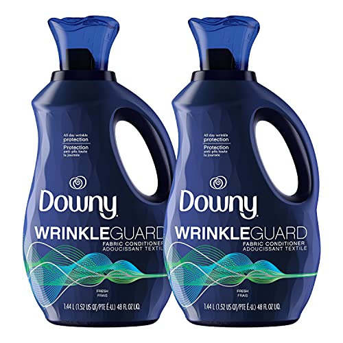 Downy Wrinkleguard Liquid Laundry Fabric Softener, Fresh Scent, 192 Total Loads...
