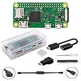 GeeekPi Raspberry Pi ZERO W Basic Starter Kit - Incluye estuche Raspberry Pi ZERO W (inalámbrico) y acrílico Raspberry Pi Zero W (transparente)