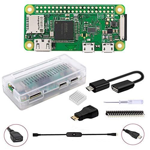 GeeekPi Raspberry Pi ZERO W Basic Starter Kit -Includes Raspberry Pi ZERO W (Wireless) & Acrylic Raspberry Pi Zero W Case (Clear)