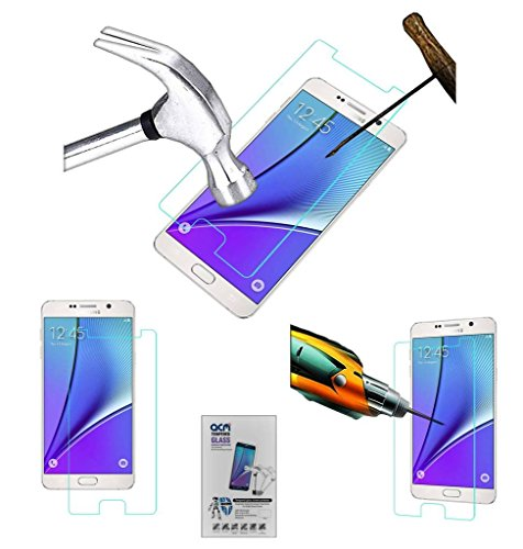 Acm Tempered Glass Screenguard Compatible with Samsung Galaxy Note 5 Screen Guard Scratch Protector