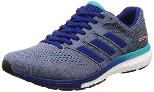 adidas Men's Adizero Boston 7 M Running Shoes, Grey (Raw Steel S18/Mystery Ink F17/Hi-Res Aqua F18), 10 UK