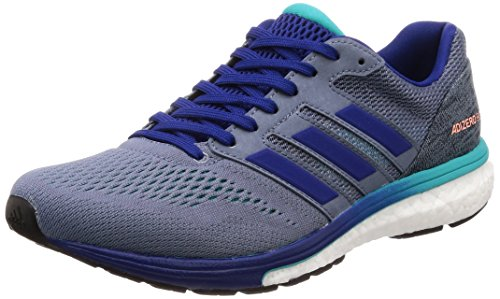 adidas Men's Adizero Boston 7 M Running Shoes, Grey (Raw Steel S18/Mystery Ink F17/Hi-Res Aqua F18), 10 UK