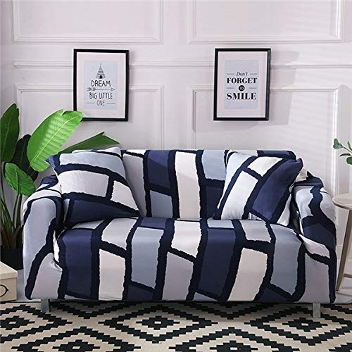 WXQY Funda de sofá de Estilo escandinavo, Funda de sofá, Funda de sofá elástica de algodón Puro para Sala de Estar, Funda de sofá Familiar antiincrustante A10 de 3 plazas
