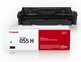 Canon Genuine Toner, Cartridge 055 Cyan, High Capacity (3019C001) 1 Pack, for Canon Color imageCLASS MF741Cdw, MF743Cdw, M...
