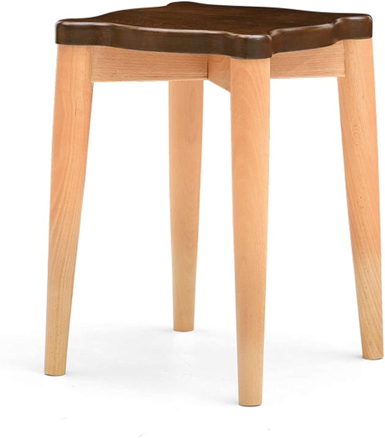GSHWJS Fashion Dressing Stool Nordic Home Bench Simple Solid Wood Stool Creative Living Room Dining Stool 30x30x44cm Put The Stool