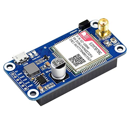POHOVE GSM/GPS/GNSS LTE Bluetooth HAT Expansion Board for Raspberry Pi 4B/3B+/3B/2B/Zero/Zero W/Zero WH Based On SIM7070G Support Position,Transfer Data, Make a Call,Send Messages