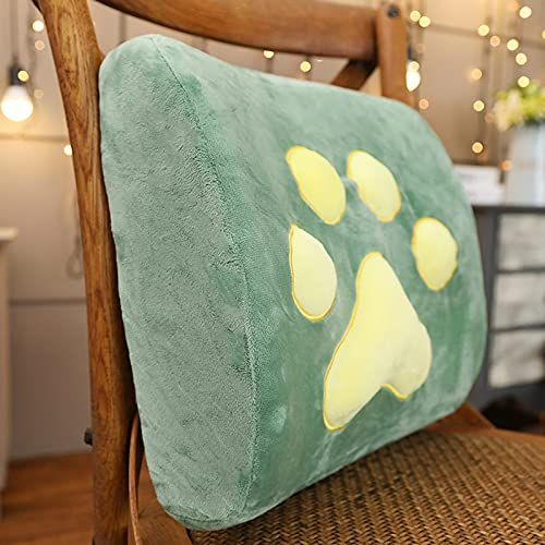 Zhantie Almohada de garra de gato de dibujos animados de espuma de memoria asiento de coche silla de oficina almohada lumbar decoración del hogar