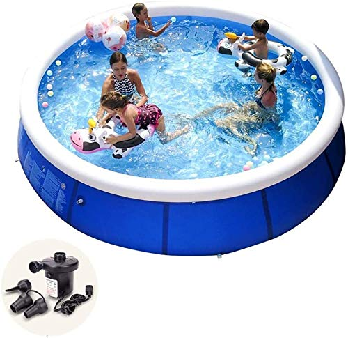 Inflatables Pool tubs Large Family Child Adult Child Inflatable Swimming Pool Grande Net Increase Thickening with electric air pump (180 * 73cm)