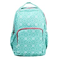 Mary Square Children's Backpack (Mint Damask)