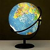 NBVCX Life Decoration 2 en 1 LED World Globe Decoración de Escritorio Globos terrestres geográficos para niños y Adultos para Juguetes educativos/Suministros de Oficina