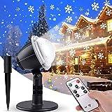 IREGRO Luces de Proyector Navidad Copos de Nieve Luz de nevadas Navidad Impermeable LED Exterior Decoración Luz de Proyector con Control Remoto Patrón para Fiesta, Navidad, Festivos ,Valentín