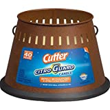 EFFECTIVE DECK & PATIO AREA REPELLENT: Repels mosquitoes and other flying insects. MADE WITH REAL CITRONELLA OIL: Triple-wick, 20-ounce candle burns for up to 40 hours. PERIMETER OF PROTECTION: Use several Cutter Citro Guard Candles to maximize the r...