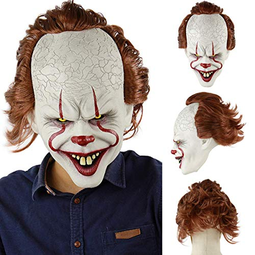 Horror Clown Maske Halloween Joker Maske Clown Maske Halloween Cosplay Kostüm Requisiten Königsmaske
