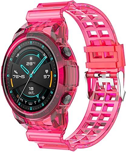 Classicase Correa de Reloj Compatible con Huawei Watch GT2 46MM, Blando Silicona Narrow Delgada Deporte Reemplazo Pulsera (Pattern 2)