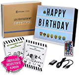 TESTSIEGER LED Lightbox mit Buchstaben – A4 Leuchtkasten mit Farbwechsel, MEGA Set inkl. 173...