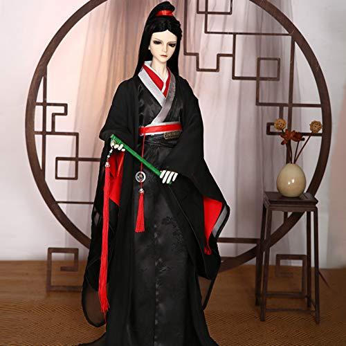 ZHDQ 1/3 BJD Junge Puppe Kleider, Jointed Doll Clothes Antike Hanfu Vollständiger Satz zum 1/3 SD Puppe (Nur Kleidung, Keine Puppen und Anderes Zubehör)
