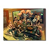 Empty One Piece Manga Strong World Japan Anime Wall Art Poster Monkey D Luffy Ace Boa Hancock Nami Pictures Print On Canvas-24X32 Inchx1 Frameless