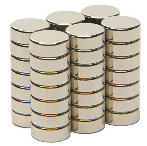 SBS® Neodym Magente | Ø 8 x 3 mm | 20 Stück | Supermagnete mit extremer Haftkraft | Scheibenmagnet | Magnetscheibe