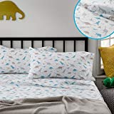 Linenspa Microfiber Three-Piece Sheet Set - Multiple Styles and Colors - Super Soft Feel - Fun Patterns for Boys and Girls - Twin - Dinosaur