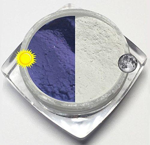3g-Photochchromic Pigment Nr-4 Blau Pulver Powder Effekt Nails Farbwechsel bei Sonnen Licht oder UV Strahlung