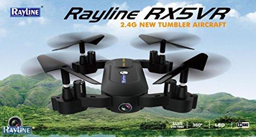 Selfie Drohne X5VR mit VR Brille, WiFi Kamera und Käfig! Rayline Quadrocopter 2,4 GHz