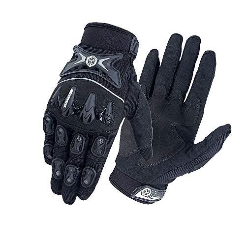 Summer Mesh Armoured Protective Short Gloves for Motorbike Riding Motocross Enduro Dirt Bike MTB ATV Blue SCOYCO Knuckle Motorcycle Gloves for Men and Women