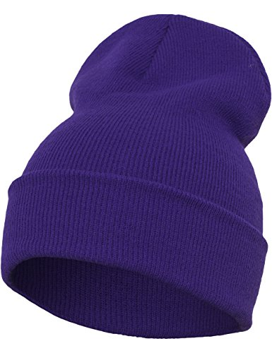 Flexfit Heavyweight Long Beanie One Size Bonnet Unisex-Adult Violet